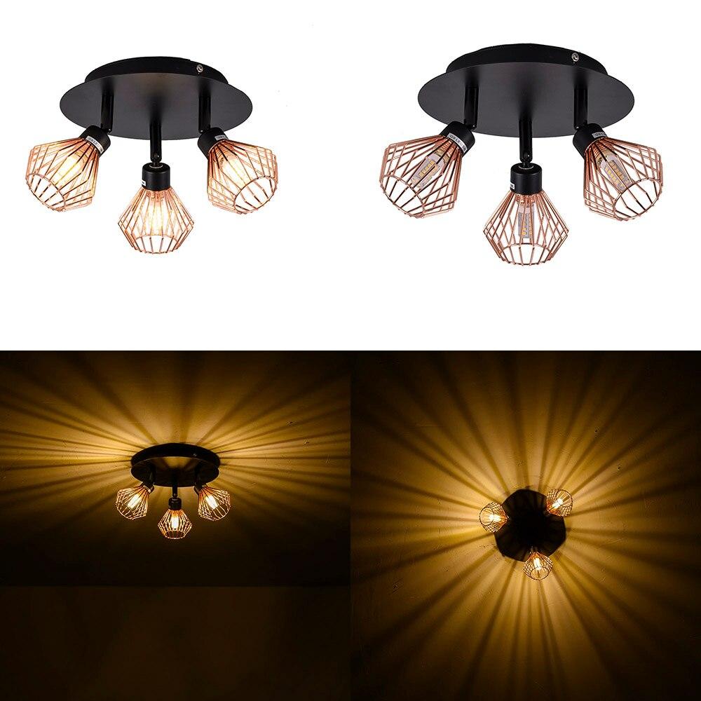 Luminaires modernes de salon G9, plafonnier en 3 couleurs, luminaire de salon, chambre à coucher rotative, lampes suspendues de plafond en Surface de cuisine