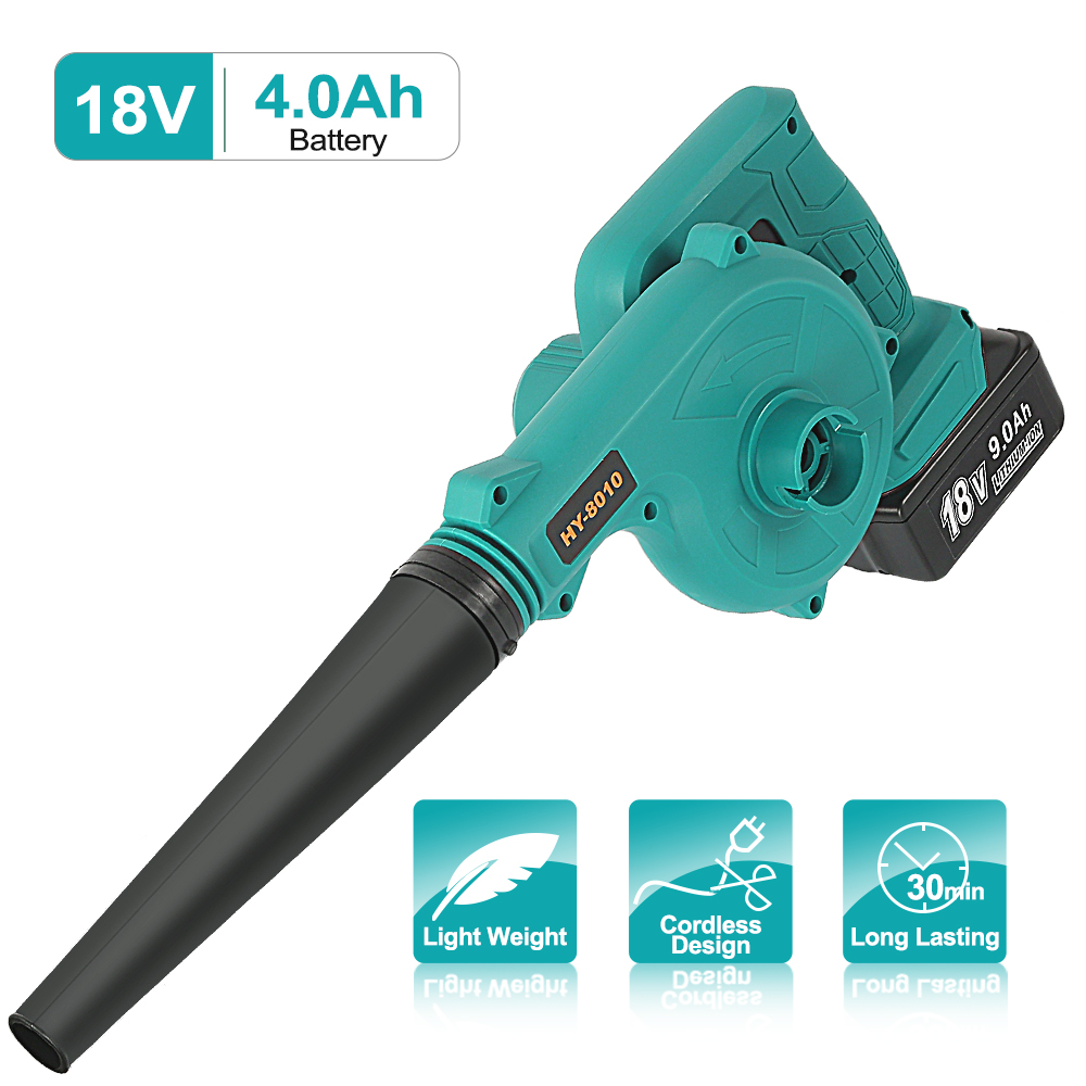 Abeden 18V Cordless Blower Vacuum Clean Air Blower for Dust Blowing Dust Computer Collector Hand Operat Power Tool No Battery