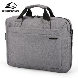 Image 1 - Kingsons бренд водонепроницаемый 12 ,13,14 ,15 дюймовый ноутбук сумка для ноутбука портфель сумка на плечо