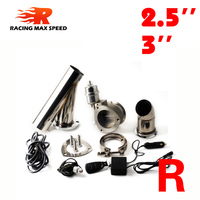 2.5 inch 3 inch exhaust cutout remote control with vacuum actuator y pipe bypass exhaust cutout pipe VAR