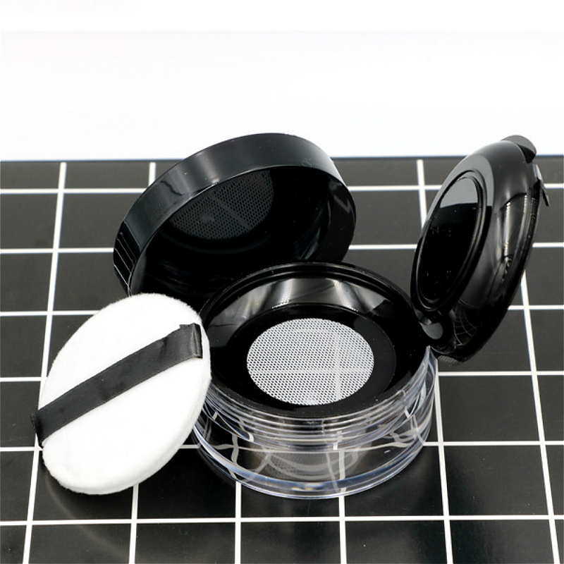 10types Portable Plastic Powder Box Handheld  Empty Loose Powder Pot With Sieve Cosmetic Travel  Makeup Jar Sifter Container
