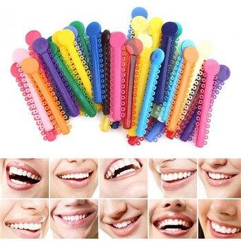 40pcs Dental Orthodontic Ligature Ties Elastic Rubber Bands Tooth Orthodontic Tools Elasticity Orthodontic Braces 1pack 40pcs dental ligature ties orthodontics elastic multi color rubber bands for health teeth tools