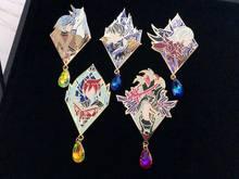 Final Fantasy-broche insignia de Metal para Cosplay, accesorio para Cosplay de Zenos, Emetselch G'raha tia, edición limitada