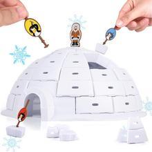 Toys Board-Game Building-Blocks Battle-Board Penguin Ice-Dome-House Interactive Desktop