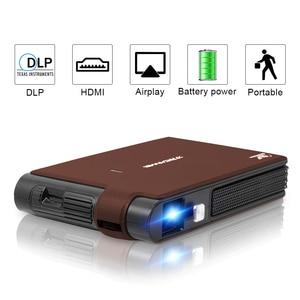 Image 2 - S6W DLP MINI Projektor Aufladbare WIFI Tragbare 3D Volle Hd Beamer für 1080P Smart Mobile Home Cinema Theater Miracast airplay
