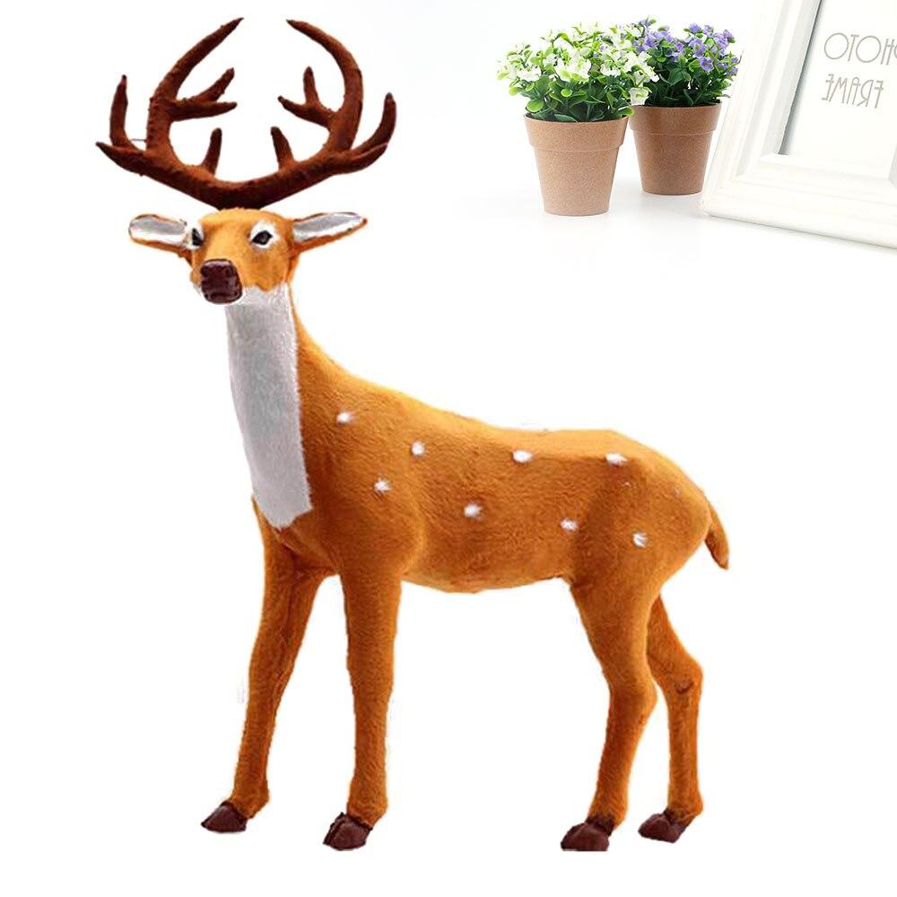 Simulation ELK Deer Xmas Elk Display Window Simulated Christmas Reindeer Plush Standing Doll