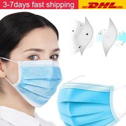 Mascarilla desechable no tejida con filtro de polvo máscara de seguridad máscara de 3 capas Mascherine