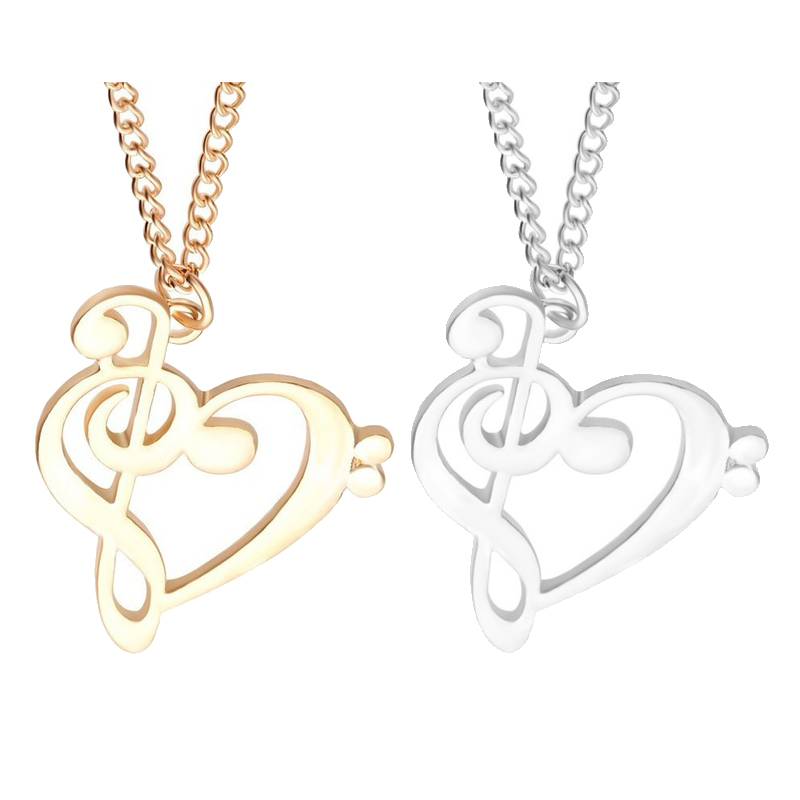New Fashion Gift Love Music Broken Heart Pendant Necklace Best Friends Forever Necklace For Women Men Friendship colar amigos