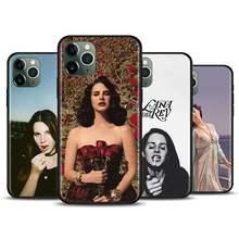 Lana Del Rey caja Del teléfono de silicona para iPhone 11 12 Pro 12 Mini X XS X Max XR 7 7 6 6S Plus SE 2020 suave cubierta Coque Fundas