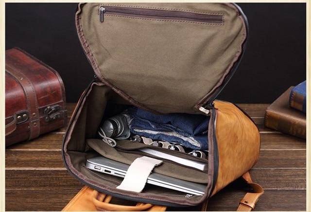 Δερμάτινο ανδρικό σακίδιο ανδρική τσάντα για φορητό υπολογιστή ανδρικό σακίδιο ταξιδιού