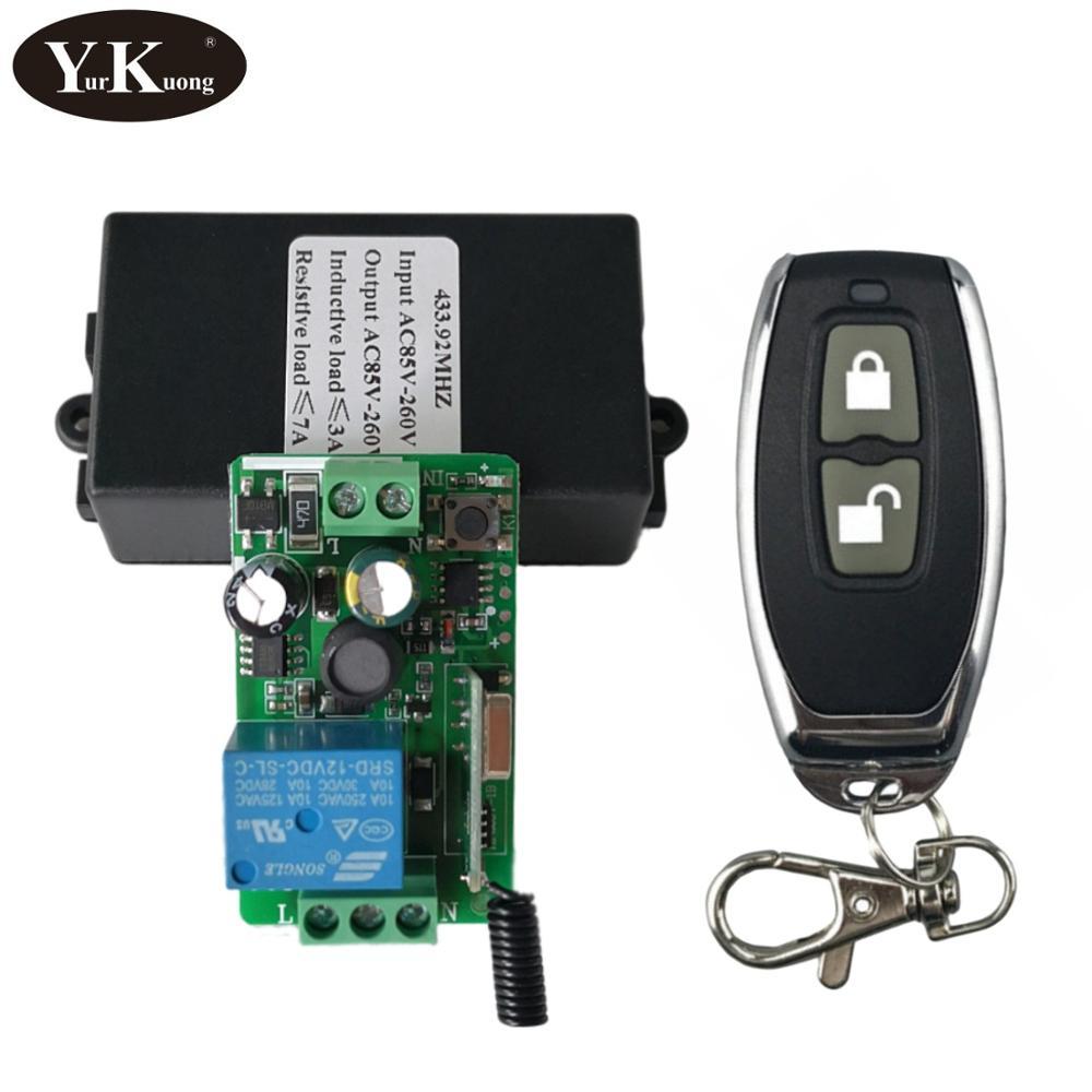 Светодиодный Беспроводной Выключатель, с дистанционным управлением, 433 МГц, 315 МГц, 220 В, 240 В|Выключатели|   | АлиЭкспресс