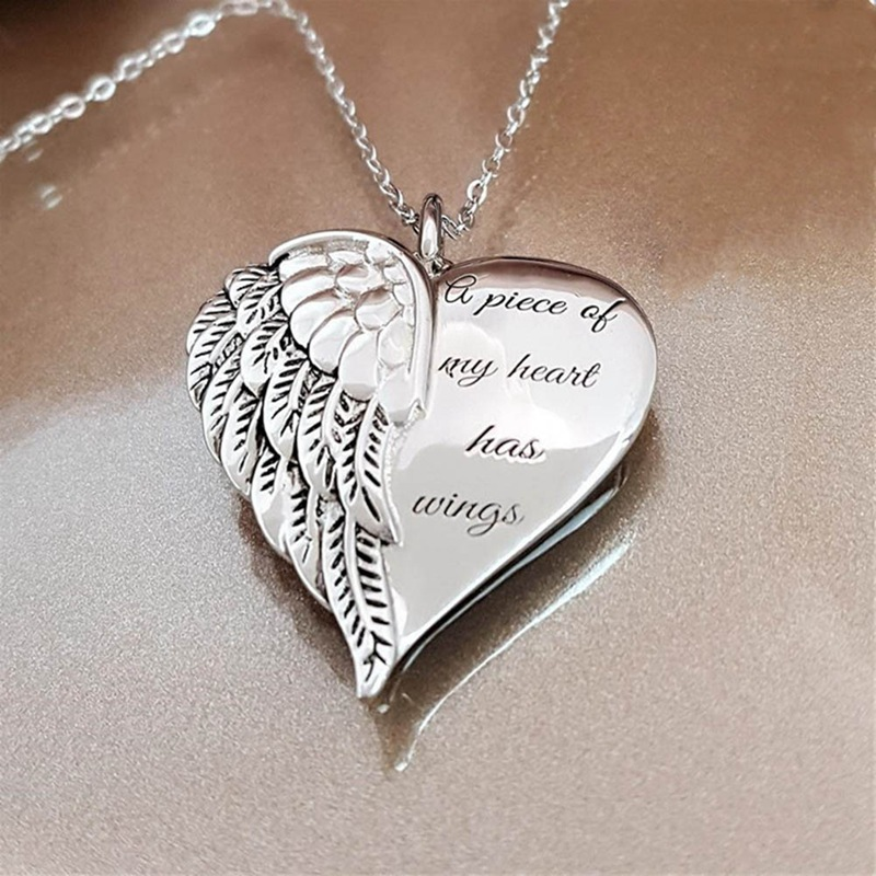 "Angel Necklace ""A Piece of My Heart Has Wings""  2"