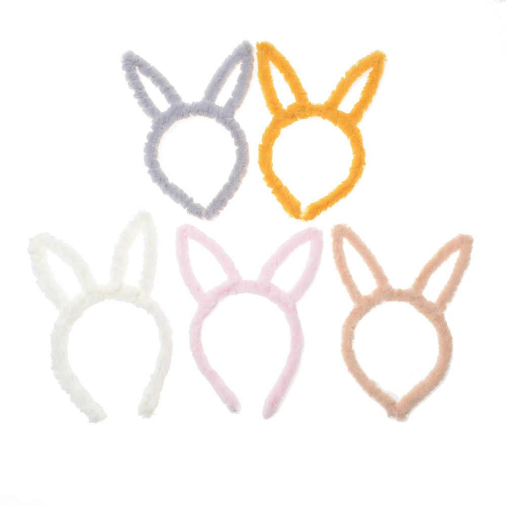 2020 bonito gato orelhas bandana headwear lavagem maquiagem engraçado coelho orelhas bandana festa de aniversário acessórios para o cabelo presentes para crianças
