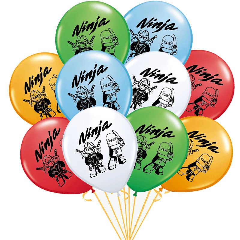 10 Pieces Lot 12 Pouces Ninja Ballon Ninjago Theme Fete Latex Ballons Bebe Douche Joyeux Anniversaire Festival Decoration Garcons Enfants Jouet Aliexpress