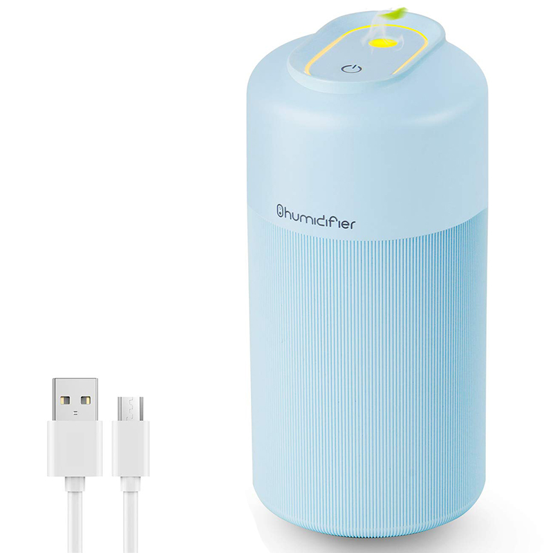 USB Portable Mini Personal Humidifier  350Ml Cool Mist Car Humidifier with 7 Colors Night Light  Waterless Auto Shut Off & Quiet|Humidifiers| |  - title=