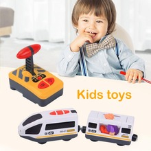 Kids Remote Control Electric Train Magnetic Slot Diecast Railway Track Vehicle RC Locomotive Carriage Trains Transport Car Toy