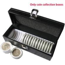 Защитный чехол держатель для монет практичный для плиты ящик для хранения дома из искусственной кожи пылезащитный прочный простой портативный с пряжкой прямоугольный