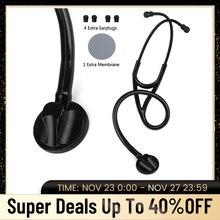 의료 심장학 청진기 전문 단일 헤드 심장 Ductor 간호사 Phonendoscope 의료 청진 장치 장비