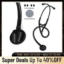 Kardiologia medyczna stetoskop profesjonalny pojedynczy klosz serduktor pielęgniarka phonendoskop sprzęt medyczny do osłuchiwania