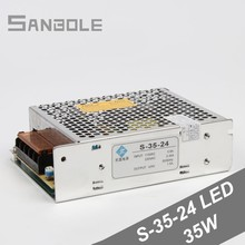 цена на 35W Switching Power Supply S-35-24 Single Output Direct Monitor LED Driver Strip Light Adapter 1.5A AC 220V DC 24V