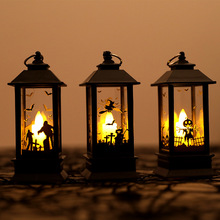 Halloween Small Lamp Retro Led Lamp Party Simulation flame lamp For Scene layout props Halloween Decoration Desktop Decoration