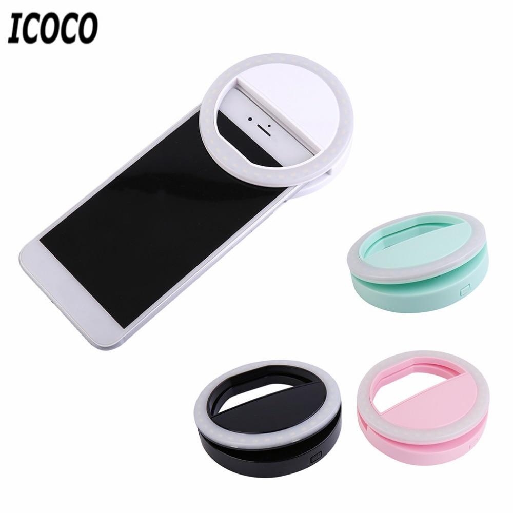 3 Modes 36LEDs Mobile Phone Selfie Light Clip-On LED Ring Flash Light Camera Photography Phone Light For Iphone Samsung