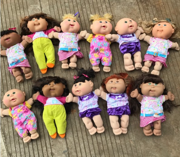 Vintage Retro Doll Cute Cabbage Patch Kids Antique Freckle Doll Baby Doll Girl Birthday Gift Collection