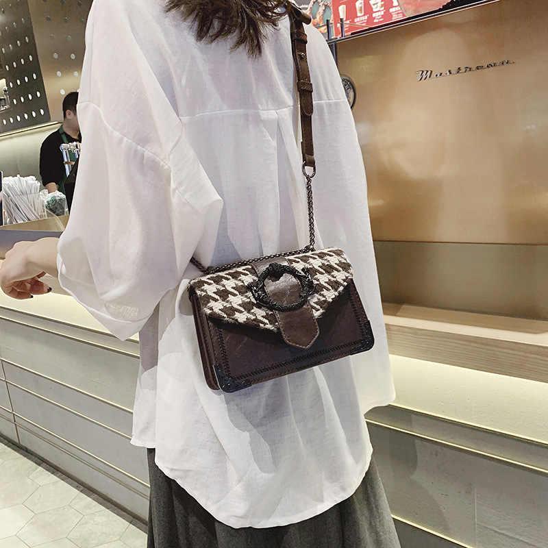 2019 nova moda pequeno saco do mensageiro quadrado estilo ocidental corrente selvagem rede vermelha sac a principal mini bolsa feminina de luxo meninas bolsa