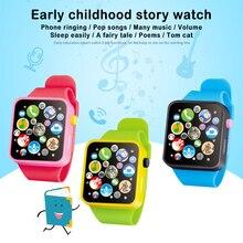 Детей раннего образования игрушки умные часы Обучающая машина 3D Сенсорный экран наручные часы игрушка Лидер продаж подарок на день рождения Dropship
