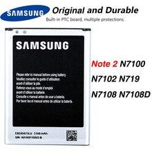 Original Samsung EB595675LU Battery For Samsung Galaxy Note 2 N7100 N7102 N719 NOTE2 N7108 N7108D 3100mAh цена 2017