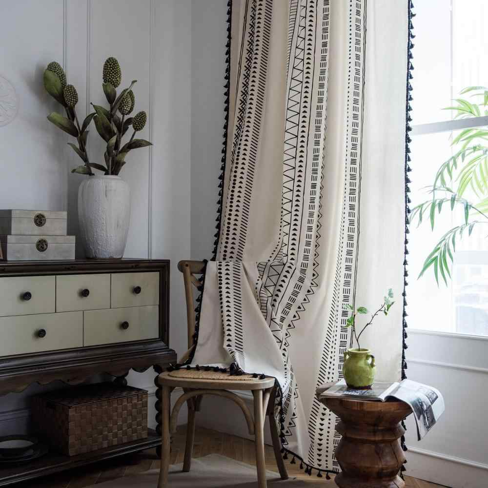 White Curtain With Tel For Living Room Blinds Bedroom Bay