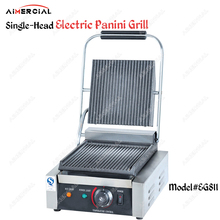 EG811/EG813/EG815 Single/Double Plate Commercial Panini Grill Electric Sandwich Makers Nonstick Press