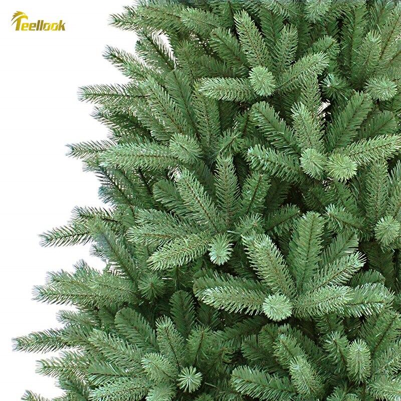 Teellook 1,2 m/3,6 m шифрование PE + PVC материал Рождественская елка Новогоднее Рождество для отелей, моллов, украшения для дома - 3
