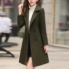 Winter Coat Women Womens Winter Lapel Button Long Trench Coat Jacket Ladies Overcoat Outwear Wool Blend Women Coat Moda Feminina(China)