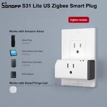 SONOFF S31 Lite ZB abd Zigbee akıllı priz 15A kumandalı soket zamanlayıcı anahtarı ile çalışır SmartThings hub Alexa