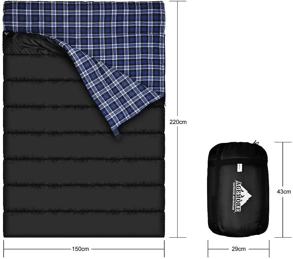 Agemore Flannel Double Sleeping Bag 2