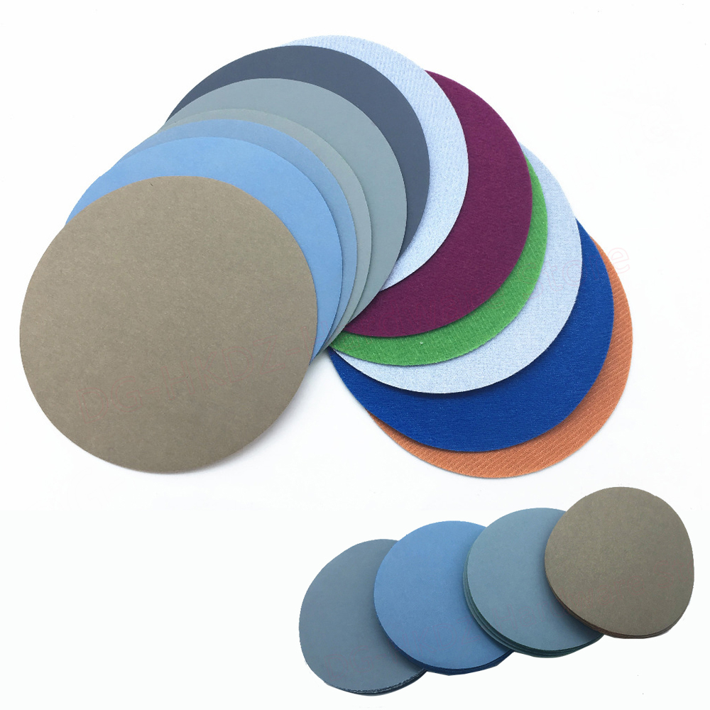 Flocking <font><b>Disc</b></font> Water Sandpaper 3 Inch <font><b>75mm</b></font> Dry & Wet Sandpaper Round Sanding <font><b>Discs</b></font> 400-10000 Grit Precision Polishing 2-50pcs image