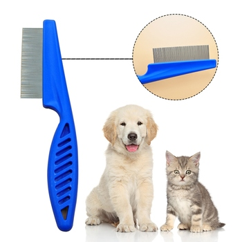 Protect Flea Comb For Cats Dogs Pet Stainless Steel Comfort Flea Hair Grooming Tools Deworming Brush Short Long Hair Fur Remove image