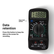 цена на XL830 Mini Digital Multimeter 1999 Counts AC/DC Voltage Current Resistance Frequency Tester True RMS NCV Meter