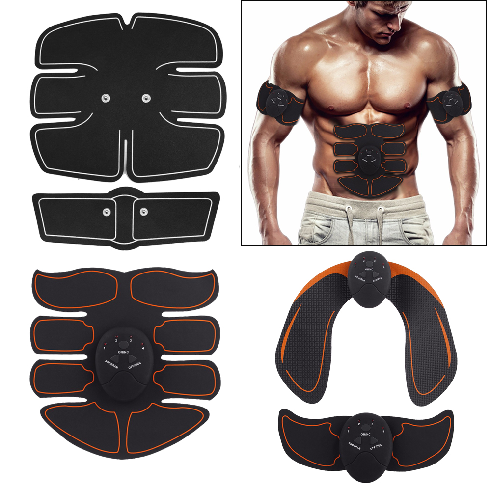 Smart EMS Hips Trainer Electric Muscle Simulators Slimming Fat Burning Exerciser Gym Smart Fitness Muscle Abdominal Tool Unisex