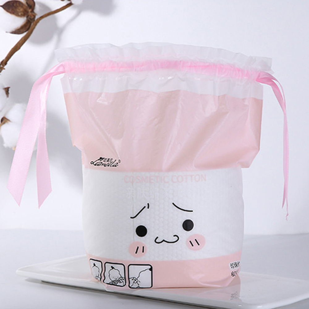 Купить с кэшбэком 80 Pumping Pearl Face Towel Skin Volume Drew-string Bag Beauty Soft Cotton Disposable Cleaning Towel Thick Pearl Face Towel