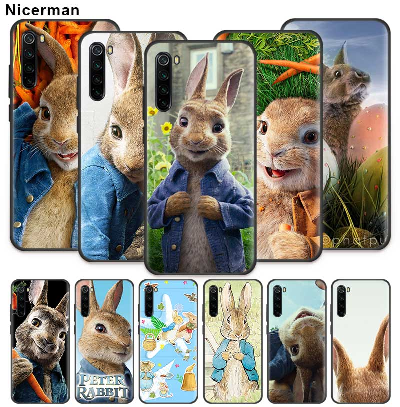 Peter <font><b>Rabbit</b></font> Case for <font><b>Xiaomi</b></font> <font><b>Redmi</b></font> Note 7 8 K20 Pro 7A 6A 7S <font><b>6</b></font> S2 Y3 5 Plus Black Silicone Phone Coque Shell Abdeckungen Fundas image