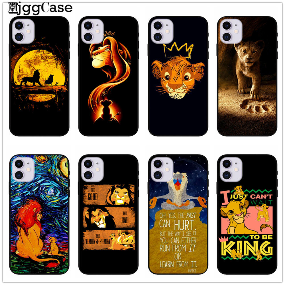 Movie the <font><b>lion</b></font> <font><b>king</b></font> 2019 Simba nala timon Silicone Phone <font><b>Case</b></font> Cover for <font><b>iPhone</b></font> 8 7 <font><b>6</b></font> 6S Plus 11 Pro X XS MAX 5 5S SE XR Cover image