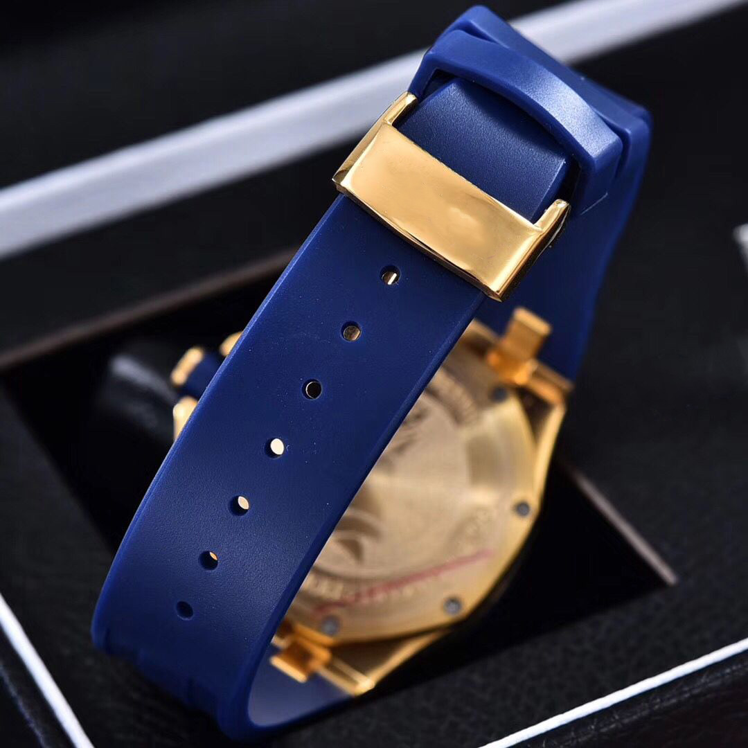 Full diamonds yellow gold Iced out watch 37mm szie women watch quartz ladies watches gold case red dial rubber strap - 6