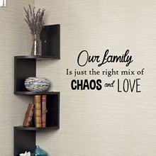 Adesivo de parede vinil para decoração, adesivo para parede decorativo para sala de estar e quarto da família