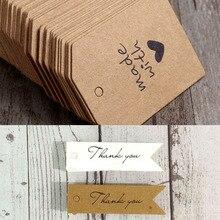 Love Heart Cost Custom-Logo Gift Tag Packing-Box Jewelry Hang-Tag Diy-Making Hand-Made