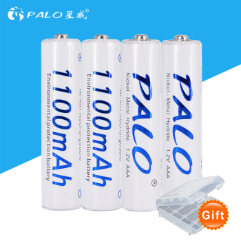 PALO 1.2v AAA rechargeable battery 4PCS 8PCS 1100mAh AAA battery NI-MH Rechargeable battery with boxes for flashlight and toys image