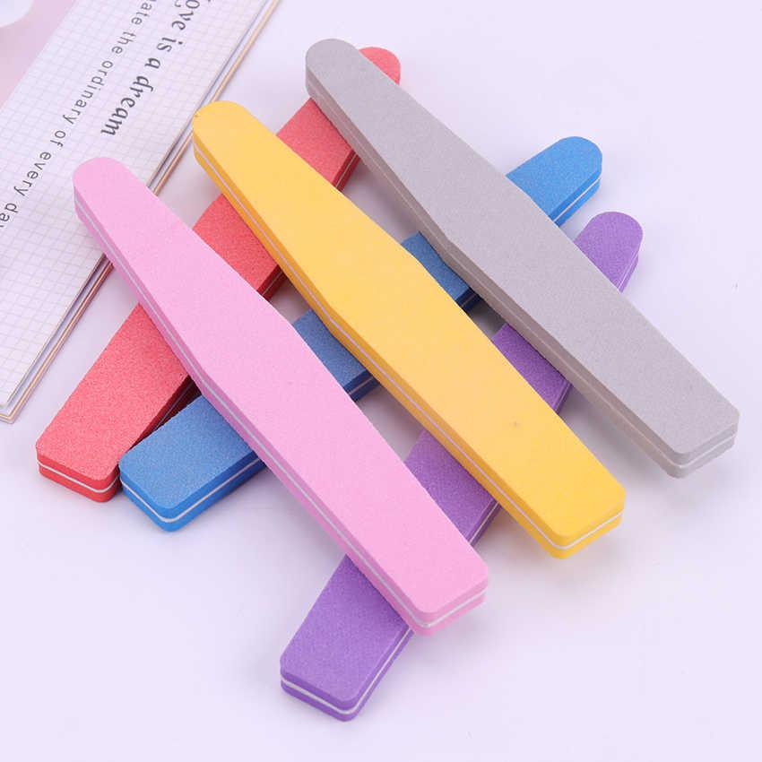 Пилки для ногтей маникюра 100/180 шлифовальная губка буферный блок напильники