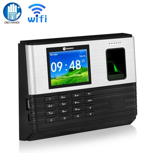 Биометрическая система учета отпечатков пальцев OBO, 2,8 дюйма, TCP/IP, Wi Fi, RFID считыватель карт, пароль для входа сотрудника