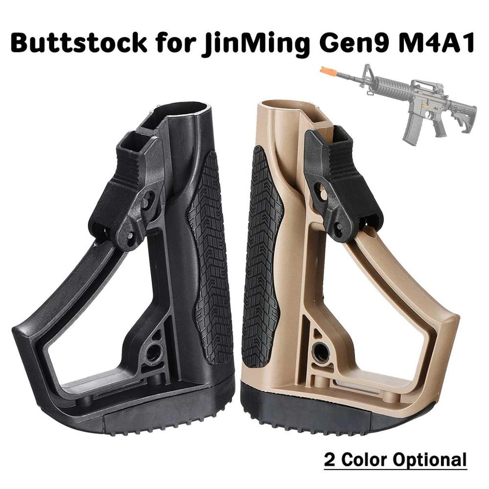 Tactical Nylon Dd Buttstock For Jinming Gen9 M4a1 J9 Gel Ball for Blaster Toy Outdoor Tactical Game Equipment Water Bullet Nylon